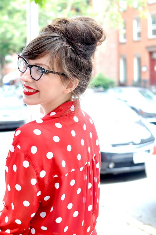Flaming lips keiko lynn for White red polka dot shirt