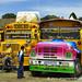 Chicken Buses in Every Style - La Esperanza, Honduras