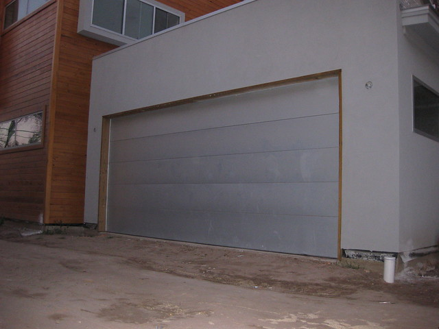 Architectural metal garage door flickr photo sharing for Architectural garage doors