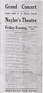 Concert programme, 1914
