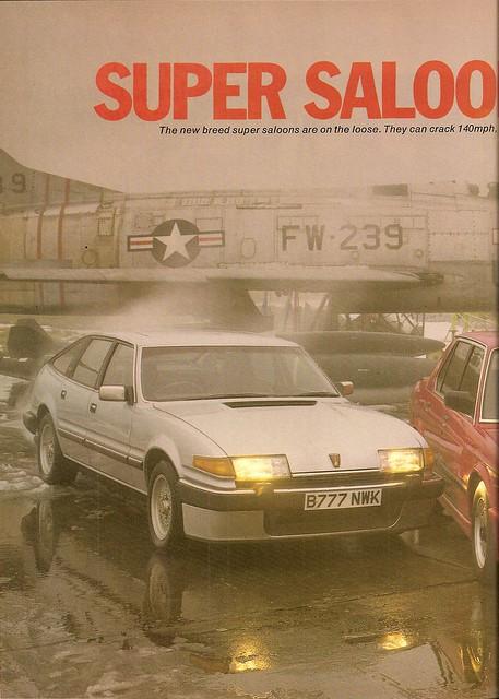 BMW M535i - Citroen CX 25 GTi Turbo & Rover Vitesse SD1 Group Road Test 1985 (1)