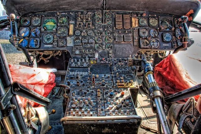 Cockpit of the Sikorsky CH-3 | Flickr - Photo Sharing!