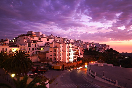 sunset sky twilight spain europa europe mediterranean mediterraneo dusk andalucia espana theme iberia frigiliana whitevillage