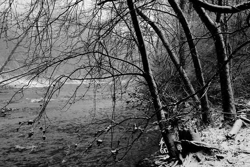 bw snow river indianapolis indiana nikon200d