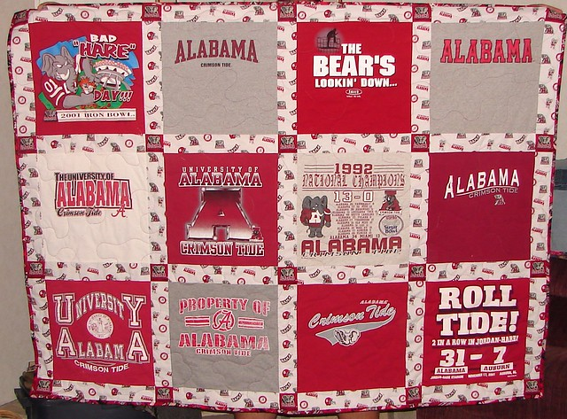 Alabama Football Quilt Pattern http://www.flickr.com/photos/11285471@N04/4156609041/