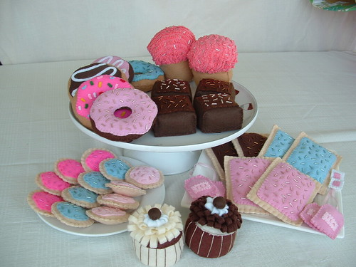 Selection of fun felt food items
