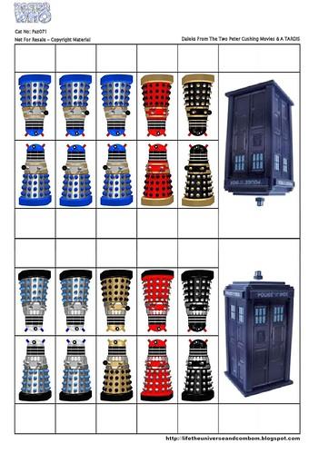Cardstock - Paz071 - Doctor Who & The Daleks-PaZZa