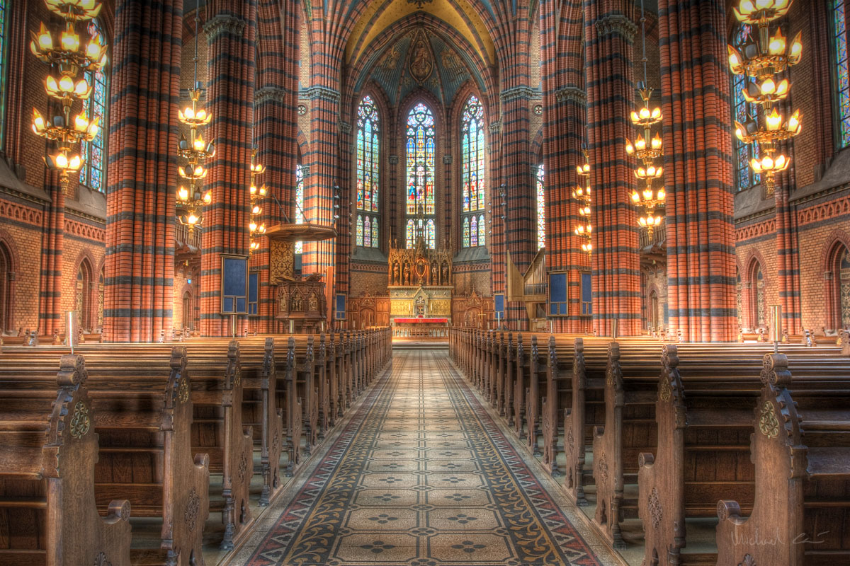 Beautiful old church interior