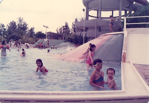 Big Splash kids slides 1986