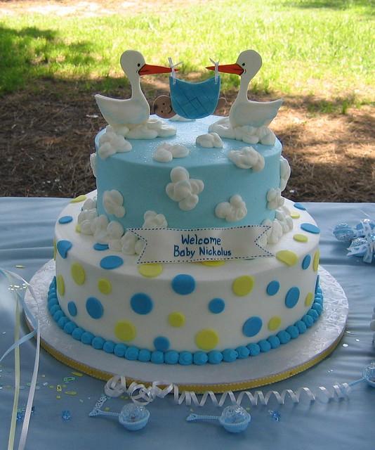 Baby Shower Cakes Stork ~ Stork cake jade s baby shower by cakes tina