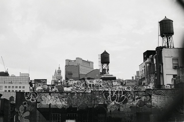 Rooftops with Graffiti
