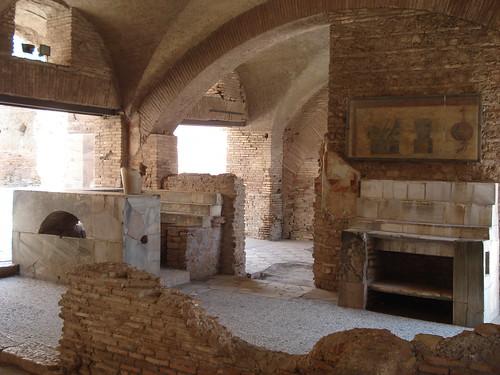 Italy, Ostia Antica, Roman bar/ restaurant