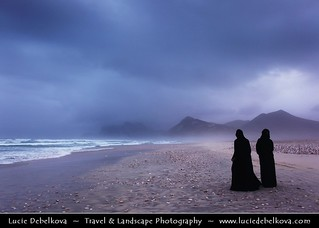 Oman - Evening Walk on the Al-Mughsayl - Al-Maghseel Beach at Dusk during Khareef Season