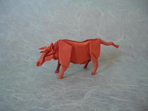 Origami Cow (Llanque)