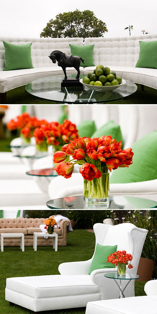 Orange Tulip Centerpiece