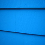 Electric blue siding