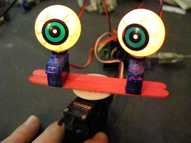 Scary Shifty Servo Eyeballs