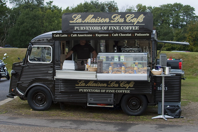 vans citroen h van la maison du cafe mobile coffee shop duxford 091011 steven gray. Black Bedroom Furniture Sets. Home Design Ideas