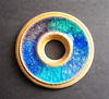 Wheel Thrown Recycled glass Donut pendant  by artisanclay
