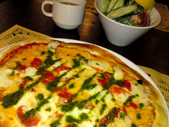 meal, breakfast, frittata, vegetarian food, pizza, food, dish, cuisine, quiche,