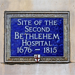 Photo of Bethlehem Hospital blue plaque