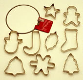 COOKIE CUTTER RING, CHRISTMAS SHAPES