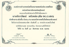 ใบประกาศนียบัตร Bggaro 01