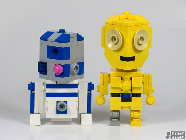 R2d2 And C3po Lego CubeDude R2D2 and C3PO...