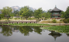 Hyangwonjeong (pavilion), Hyangwonji (pond), and bridge, Gyeongbok Palace, Seoul