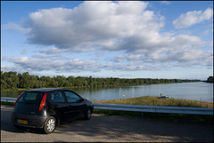 My FIAT Punto on Rhine dam