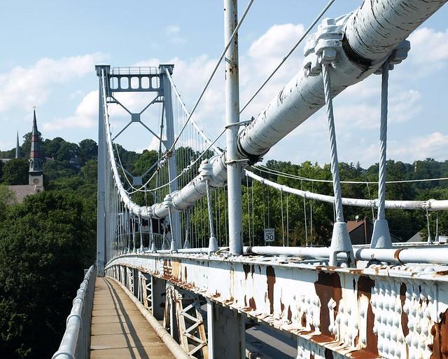 Kingston-Port Ewen Suspension Bridge over Rondout Creek, Ulster County, New York