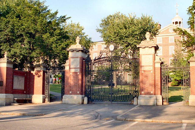 N_20B College Hill - Van Wickle Gates (1901) - 45 Prospect Street - Brown University - College and Prospect Streets