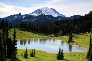 Mt. Rainier viewed from Upper Tipsoo Lake near Chinook Pass