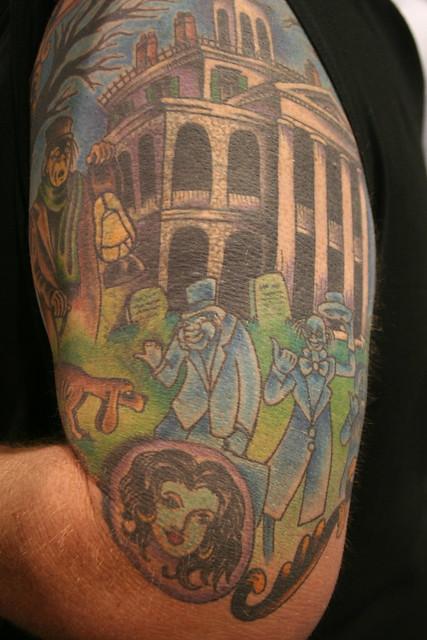 haunted mansion tattoos