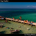 The pier at the spit, Caye Caulker