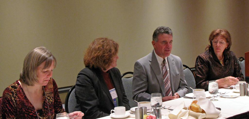Will Manley chats with NELA officers