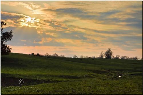sunset landscape photo illinois pasture prairie hdr cloudsandsky adobephotoshopelements canonefs1755mmf28isusm canoneos50d adobephotoshopelements7