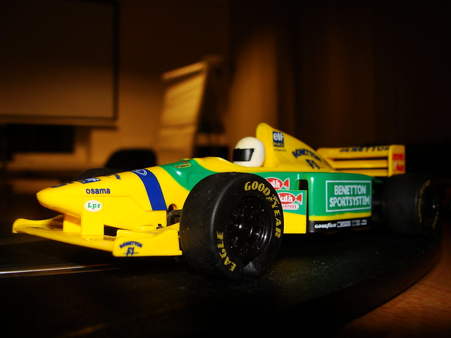 Scalextric model of Michael Schumacher39;s 1993 Benetton B19…  Flickr