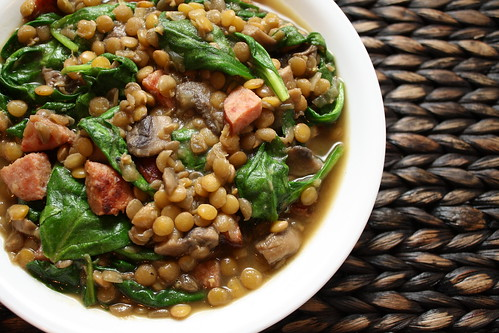 Lentil Soup with Spinach and Sausage | A Dash of Sass