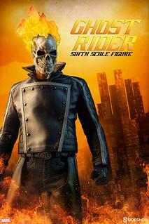 Sideshow Collectibles【惡靈戰警】超級英雄計畫第五彈 Ghost Rider 1/6 比例人偶作品