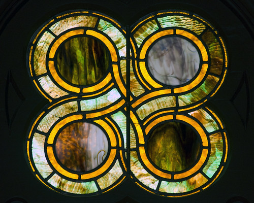 Detail of a Tiffany Window Willard Chapel