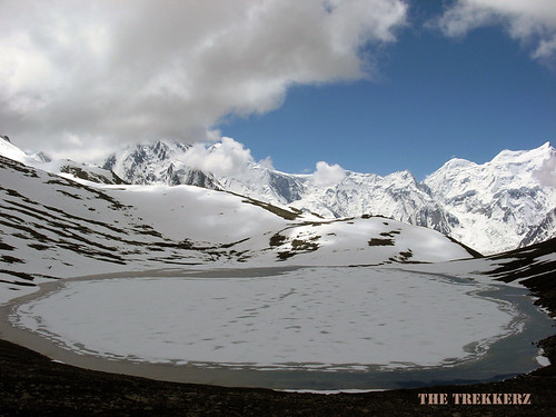 Rush Lake (Highest Lake of Pakistan, 4750 Meters) and Malubiting Range (7458 Meters)