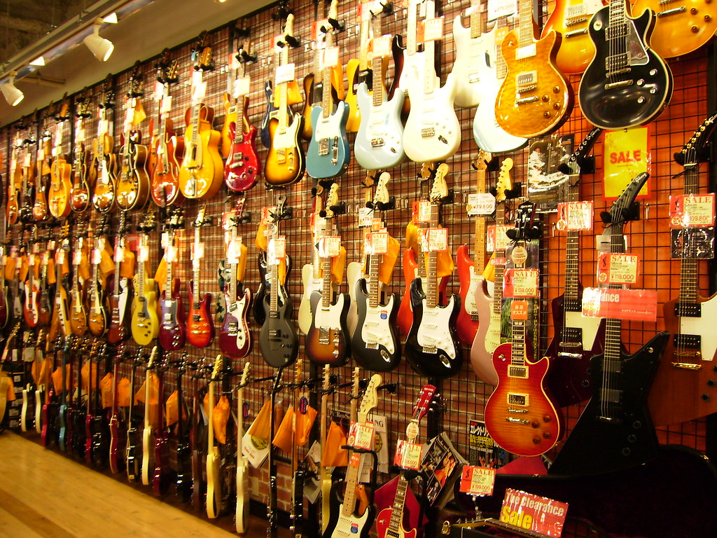 All sizes | Guitar shop in Osaka | Flickr - Photo Sharing!