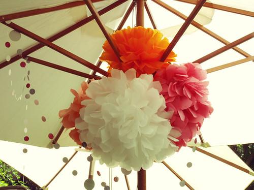 Pompones de papel de seda bueno bonito y barato - Pompones con papel de seda ...