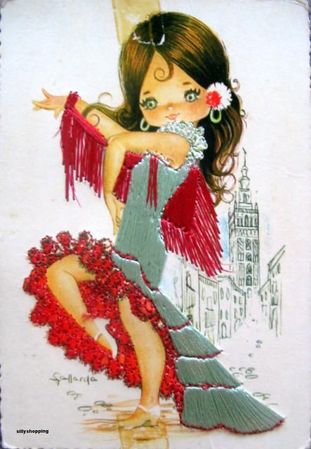 Vintage Bigeyed Folklore Postcard