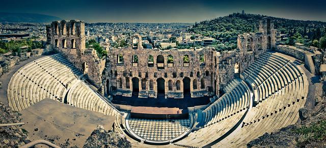 Odeon of Herodes Atticus, Acropolis, Athens, Greece ...