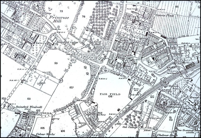 Chelmsford Map Circa 1888 The West End  A Map Of The
