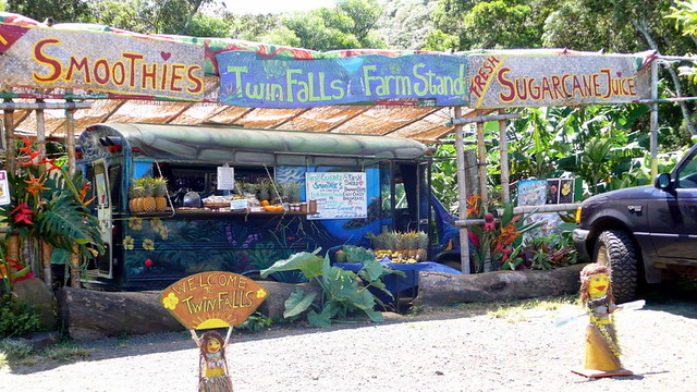 Fruit stand on road to Hana