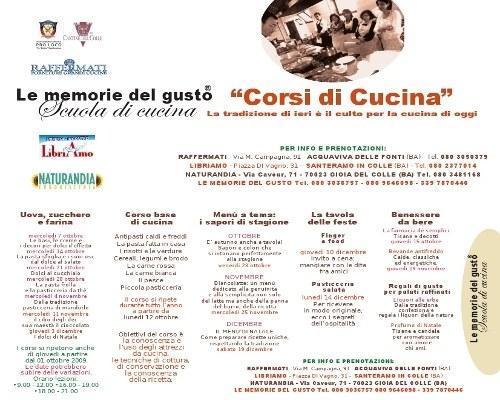A bari corsi di cucina firmati le memorie del gusto 2009 - Corsi di cucina bari ...