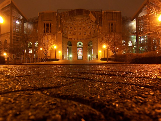 ohio stadium at night